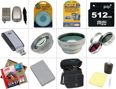 Platinum Accessory Bundle for DC-40, DC-50, HR10 DVD Camcorder
