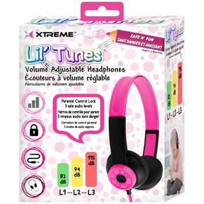 Lil' Tunes Volume Adjustable Kids Headphones - Pink