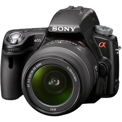 Alpha SLT-A55 16.2 MP Digital SLR Kit w/ 18-55mm Lens & 1080 HD Video - OPEN BOX