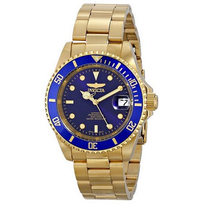 Men's Pro Diver 40mm Stainless Steel Gold Plated Gold Blue Dial Automatic 8930OB
