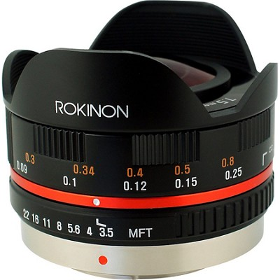FE75MFT-B - 7.5mm F3.5 UMC Fisheye Lens for Micro Four Thirds (Black) OPEN BOX