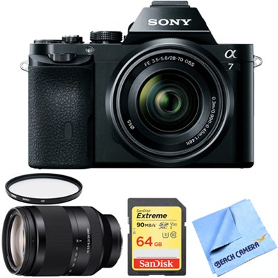 a7K Full-Frame Mirrorless Camera with FE 28-70mm Lens 24-240mm Zoom Lens Bundle