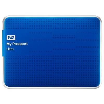 My Passport Ultra 500GB USB 3 Portable Hard Drive -WDBPGC5000ABL (Blue) OPEN BOX