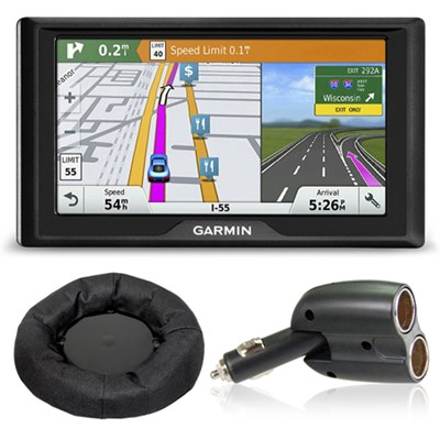 Drive 60LMT GPS Navigator (US and Canada) Charger + Friction Mount Bundle