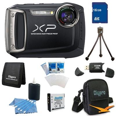Finepix XP100 14MP CMOS Digital Camera 16 GB Bundle (Black)
