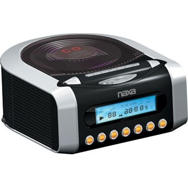 NRC-157 Digital Alarm Clock With Digital Tuning AM/FM Radio & CD Player