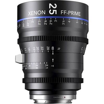 25MM Xenon Full Frame 4K Prime XN 2.1 / 25 Feet Lens for Canon EOS Mounts
