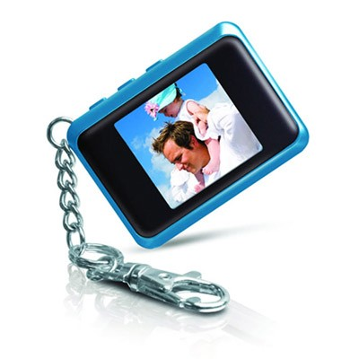 DP151BLU 1.5 ` Keychain Digital Photo Frame (Stores 60 Pictures) (Blue)