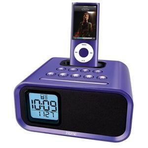 IHOME iH22UV iPod Dual Alarm Clock Speaker System (Purple)