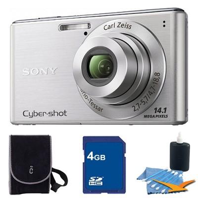 Cyber-shot DSC-W530 Silver Digital Camera 4GB Bundle