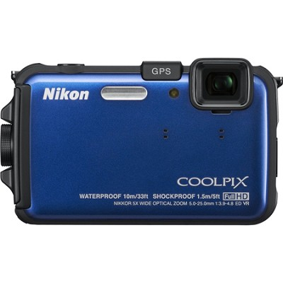COOLPIX AW100 16MP Waterproof Shockproof Freezeproof Blue Digital Camera