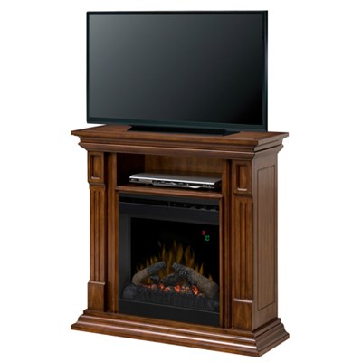 Deerhurst Electric Fireplace & Media Console -  Burnished Walnut