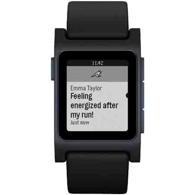 Pebble 2 SE Smartwatch - Black/Charcoal - 1001-00057