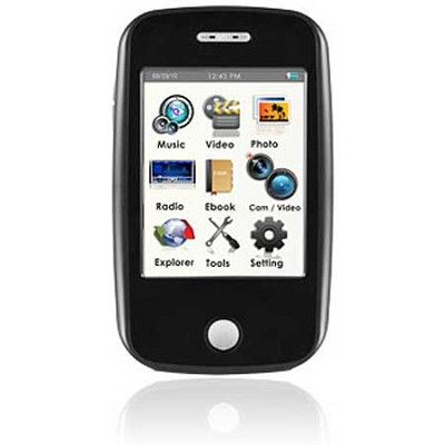 E6 Series - 4GB MP3 Video Player w/ 3` Touchscreen, Camera w/ Video - Black