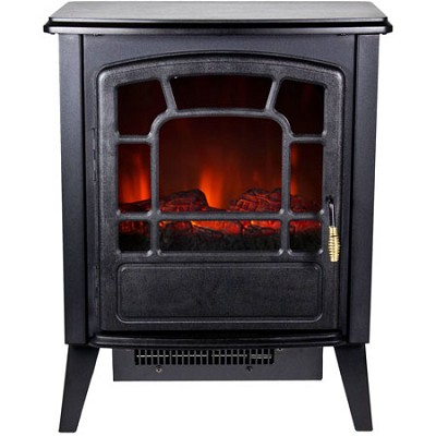 RSF-10324 Bern Retro Style Floor Standing Electric Fireplace - Black