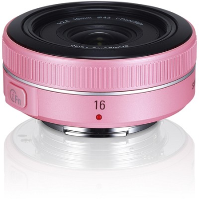 NX 16mm f/2.4 Ultra Wide Pancake Camera Lens - Pink
