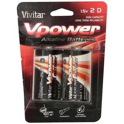 2 Pack D Batteries