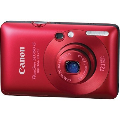 Powershot SD780 IS Digital ELPH Camera (Red)