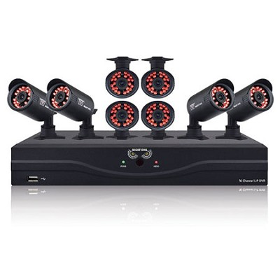 16 Channel Video Security Kit with 1TB HDD and 8 Hi-Res Indoor/Outdoor Cameras