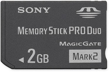 2GB Memory Stick PRO Duo Mark 2 Media  -  {MS-MT2G}