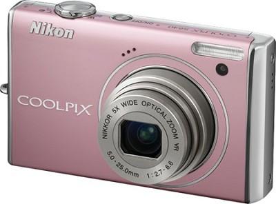 COOLPIX S640 Digital Camera (Precious Pink)