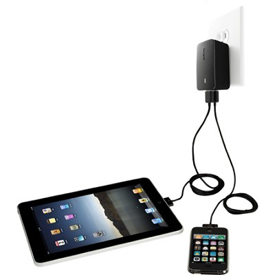 Dual Charger for iPad - Black