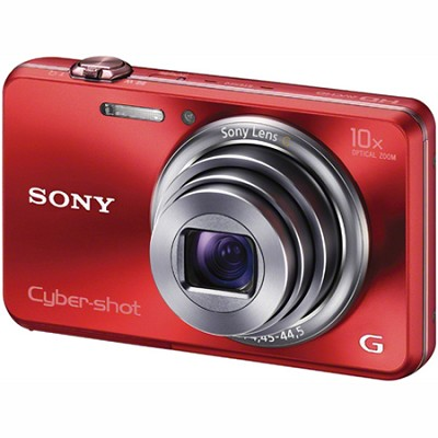 Cyber-shot DSC-WX150 18.2 MP 10x Optical HD Video 3D Sweep Camera (Red)