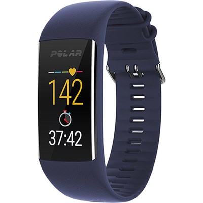 A370 Fitness Tracker with 24/7 Wrist Based HR Blue M/L  (90070096)