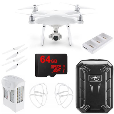 Phantom 4 Advanced Quadcopter Drone w/ 64GB Travel Bundle (CP.PT.000689)