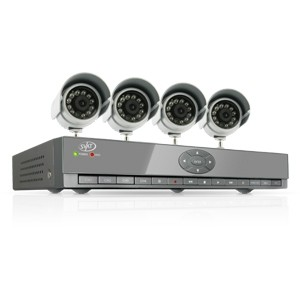 4 Channel Smart Phone Compatible H.264 DVR Security System with 4 Cameras