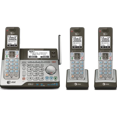 CLP99383 DECT 6.0 3-Handset Connect to Cell Answering System with Dual Caller ID