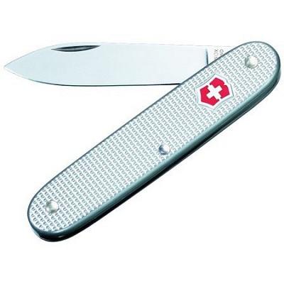 Solo Alox Pocket Knife (Silver Alox Ribbed)