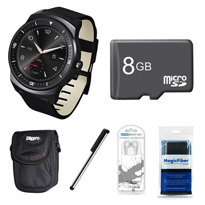 W110 G Watch R 1.3` P-OLED Display Android 4.3 8GB Bundle