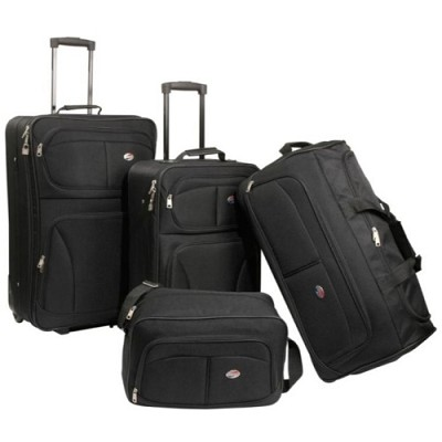 Fieldbrook Four-Piece Luggage Set (Black)