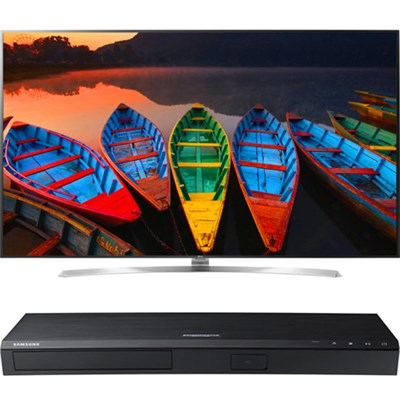 75` Super UHD Smart LED TV  - 75UH8500 + Samsung UBDK8500 4K UHD Blu-Ray Player