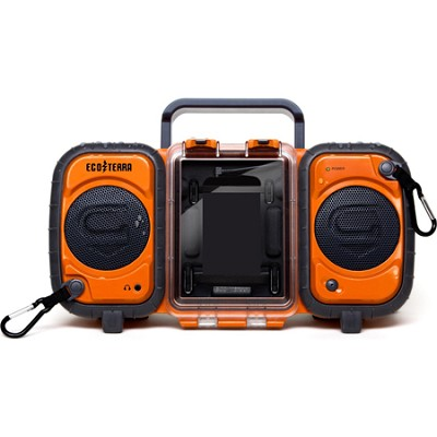 GDI-AQ2SI60 ECOXGEAR Rugged and Waterproof Stereo Boombox - Orange