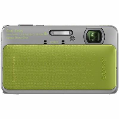 Cyber-shot DSC-TX20 16.2 MP Waterproof Shockproof 3D Sweep Camera (Green)
