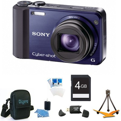 Cyber-shot DSC-HX7V Blue Digital Camera 4GB Bundle