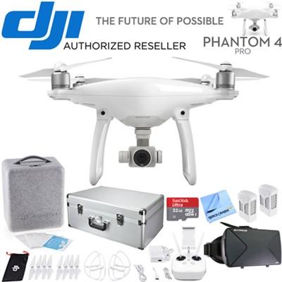 Phantom 4 Pro Quadcopter Drone - CP.PT.000488 -Carrying Case Bundle Xtra Battery