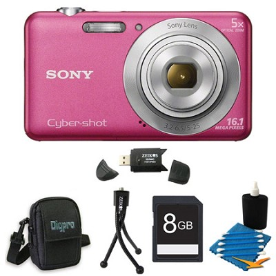 DSCW710 16 MP 2.7-Inch LCD Digital Camera Pink Kit