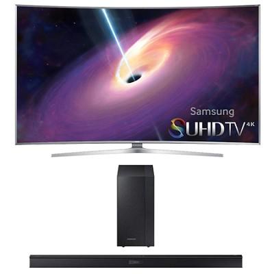 UN55JS9000 Curved 55` 2160p Smart 4K UHD LED TV HW-J450 Soundbar Bundle