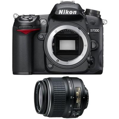 D7000 16.2 MP DX-format Digital SLR Camera w/ 1080p HD Video Refurbished Bundle