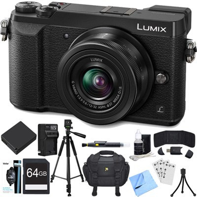 LUMIX GX85 4K Mirrorless Interchangeable Lens Camera w/ 12-32mm Lens Bundle