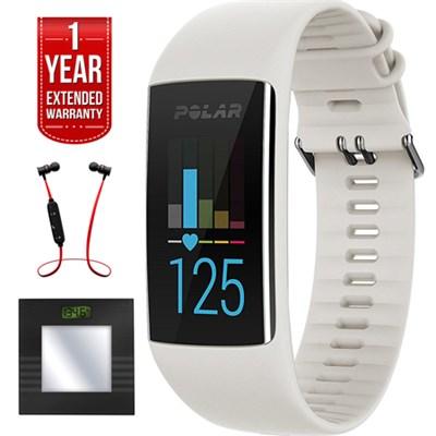 A370 Fitness Tracker Wrist Based Heart Rate GPS via Phone+Headphone Bundle