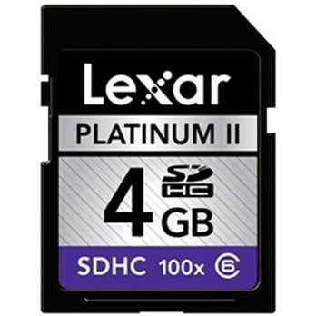 Platinum II 4 GB 100x SD/SDHC Flash Memory Card LSD4GBBSBNA100