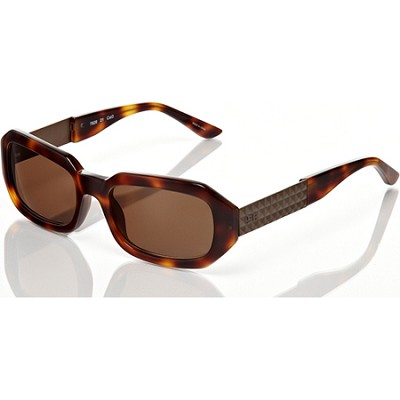 Diamond Cut Design Frame with Brown Lens