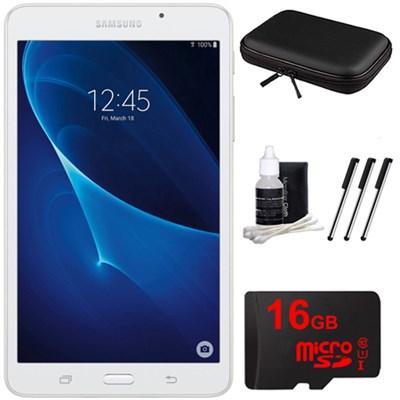 Galaxy Tab A Lite 7.0` 8GB Tablet PC (Wi-Fi) White 16GB microSD Accessory Bundle