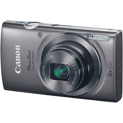 PowerShot ELPH 160 20MP 8x Opt Zoom HD Digital Camera - Silver