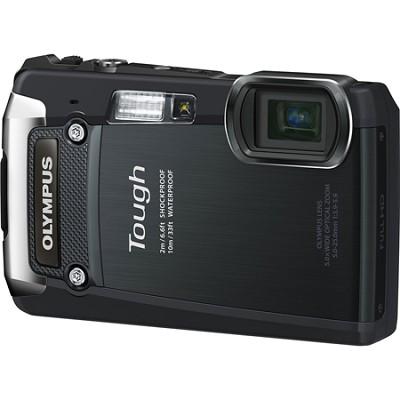Tough TG-820 iHS 12MP Waterproof Shockproof Freezeproof Digital Camera - Black -