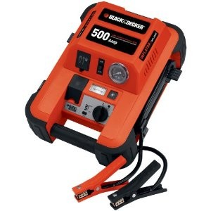 JUS500IB 500-Amp Jump Starter with Built-in Tire Inflator     NEW TORN BOX